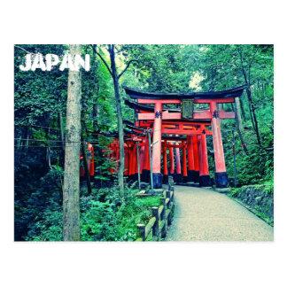 Postal - puertas de Japón - de Torii en Kyoto