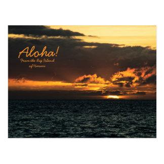 Postal: Puesta del sol de Hawaii