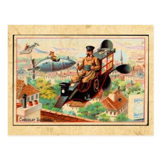 Postal punky de la publicidad del vapor del vintag