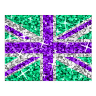 Postal púrpura BRITÁNICA del Glitz