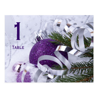 Postal púrpura chispeante del número de la tabla d