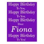 Postal púrpura de la canción del feliz cumpleaños