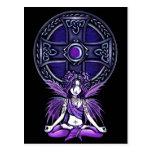 """""""Postal púrpura de la hada de la yoga de Lotus del"""