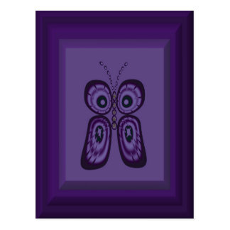 Postal púrpura de la mariposa