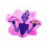 Postal púrpura de la Robot-Celebración
