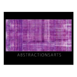Postal púrpura del arte moderno