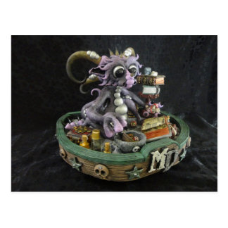 Postal púrpura del dragón del MD