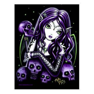 Postal púrpura del Faerie de los cráneos de la bel