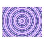 Postal púrpura del remolino