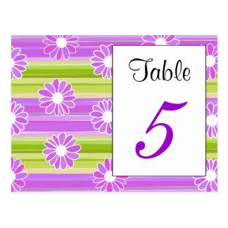 Postal púrpura verde del número de la tabla de las