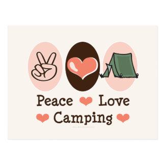 Postal que acampa del amor de la paz