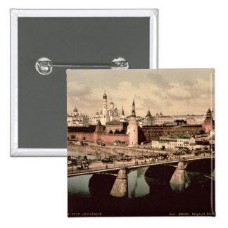 Postal que representa el Kremlin, Moscú Pin Cuadrada 5 Cm