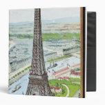 Postal que representa la torre Eiffel