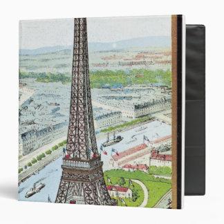 "Postal que representa la torre Eiffel Carpeta 1 1/2"""