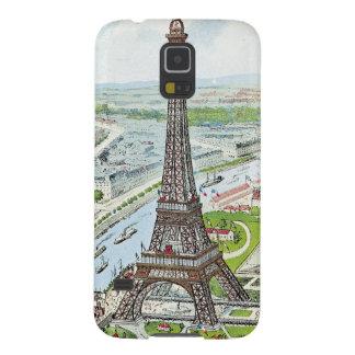 Postal que representa la torre Eiffel Funda Galaxy S5
