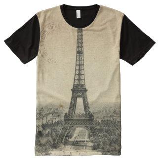 Postal rara del vintage con la torre Eiffel en