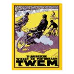 Postal: Raza de la moto y de bicicleta