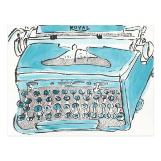 Postal real de la máquina de escribir