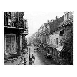 Postal real de New Orleans de la calle de Rainswep