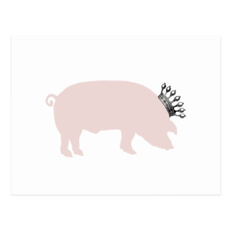 Postal real del cerdo