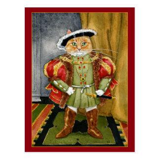 Postal real del gato del rey Enrique VIII