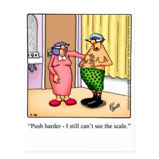 Postal rechoncha del humor del marido