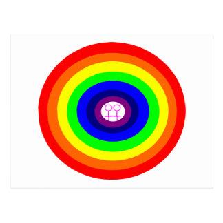 Postal redonda del arco iris de las lesbianas