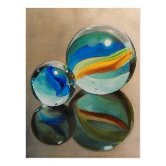 Postal reflejada de los mármoles