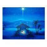 Postal religiosa del navidad de la natividad