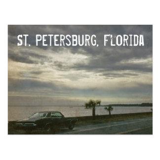 Postal retra 1969 del coche de St Petersburg la Fl