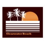 Postal retra de la playa de Clearwater