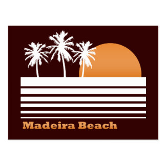 Postal retra de la playa de Madeira
