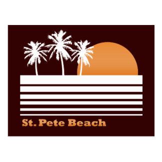 Postal retra de la playa del St Pete