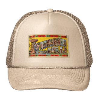 Postal retra de los Dells de Wisconsin del kitsch  Gorras