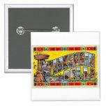 Postal retra de los Dells de Wisconsin del kitsch  Pin