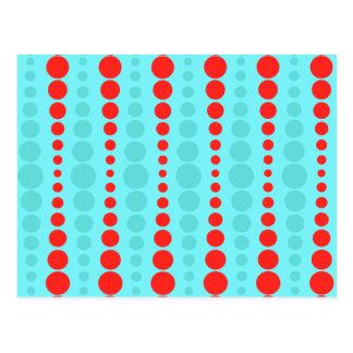 Postal retra de los puntos del rojo y de la