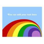 Postal retra del arco iris