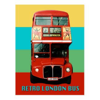 Postal retra del autobús de Londres