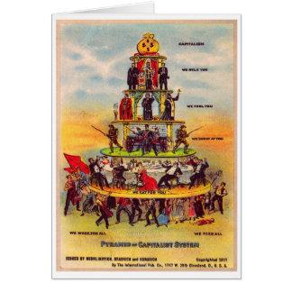 Postal retra del capitalismo de la política del ki tarjeta de felicitación