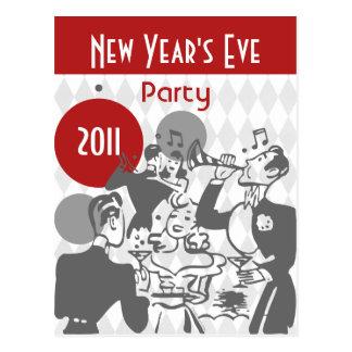 Postal retra del fiesta del Año Nuevo
