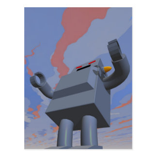 Postal retra del robot 2 del estilo