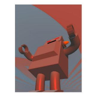 Postal retra del robot 3 del estilo