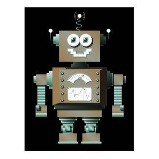 Postal retra del robot del juguete (DK)