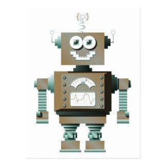 Postal retra del robot del juguete (lt)