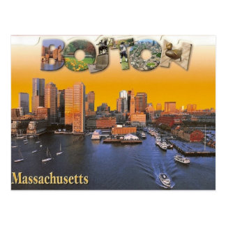 Postal retra del vintage de Boston