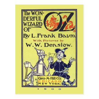 Postal retra del vintage de mago de Oz