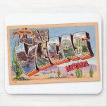 Postal retra Las Vegas Nevada del kitsch del vinta Tapetes De Ratones