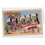 Postal retra Las Vegas Nevada del kitsch del vinta Tarjetas