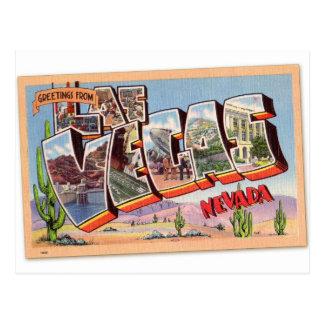 Postal retra Las Vegas Nevada del kitsch del vinta