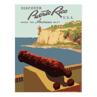 Postal retra Puerto Rico del viaje del vintage